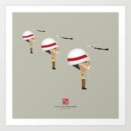 Honor Guard - Team KPQ Drill Art Print