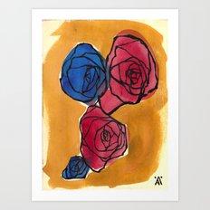 Four Little Roses Art Print