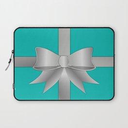 Blue Gift Box Laptop Sleeve