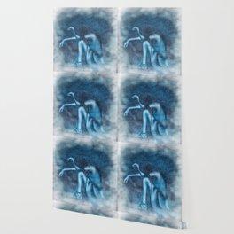 Blue Girl Tears Wallpaper