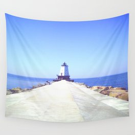 Scenic Lighthouse Wall Tapestry
