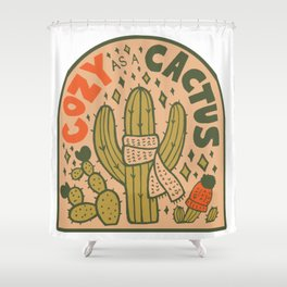 Cozy as a Cactus Shower Curtain