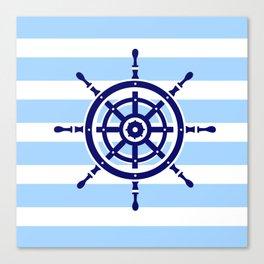 AFE Nautical Helm Wheel Canvas Print