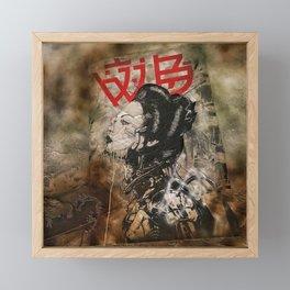 Cyber Geisha Framed Mini Art Print