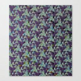 pinwheels and spirals, aqua Canvas Print
