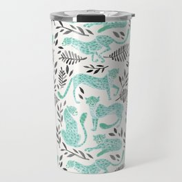 Cheetah Collection – Mint & Black Palette Travel Mug