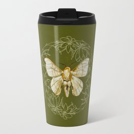 White Moth Travel Mug