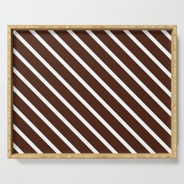 Chocolate Diagonal Stripes Serving Tray
