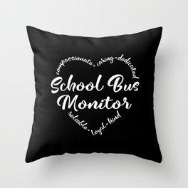 School bus monitor, schoolbus monitor Throw Pillow