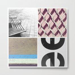 Graphic Quadrant 2 Metal Print