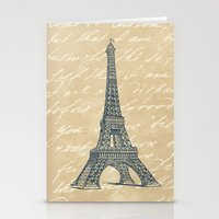 eiffel tower Stationery Cards featuring Eiffel Tower by Zen and Chic