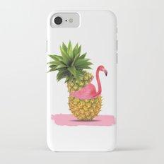 Flamingo party iPhone 8 Slim Case