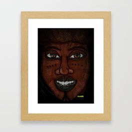 Afrikan Beauty Framed Art Print