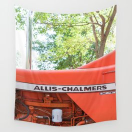 Allis - Chalmers Vintage Tractor Wall Tapestry