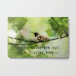 Hummingbird Miracles Metal Print