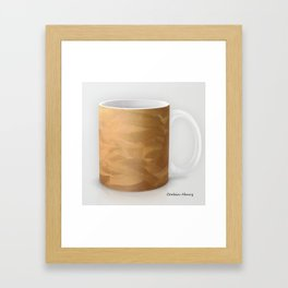 Brushed Copper Metallic Coffee Mug Modern Art Print Framed Art Print