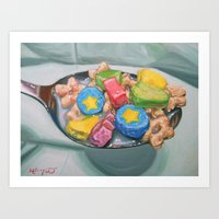 Marshmallow Cereal Art Print