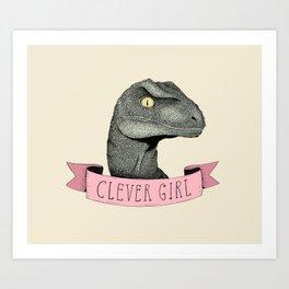 Clever Girl - Jurassic park Art Print