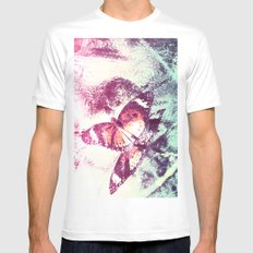 Flying high sweet Butterfly Mens Fitted Tee White MEDIUM