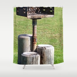 BBQ In Park Shower Curtain