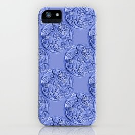Celtic Blue Pattern iPhone Case