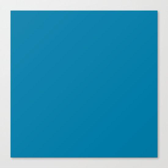 #007BA7 Cerulean Blue Canvas Print
