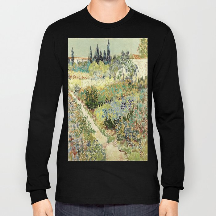 Vincent Van Gogh : Garden at Arles Long Sleeve T-shirt