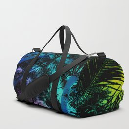 The Palm Trees Under the Seaside Rainbow Duffle Bag