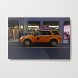 Traffic Cab Metal Print