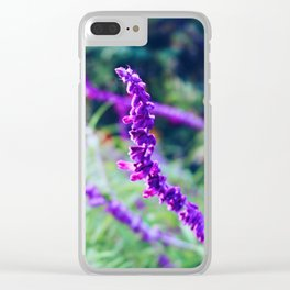 Purple Velvet Lavender Clear iPhone Case