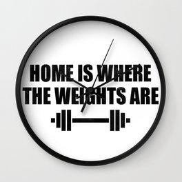 At Home Gym Wall Clock