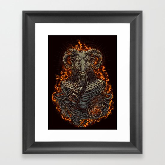lord of goat Framed Art Print