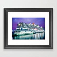Cunard Queen Elizabeth Framed Art Print