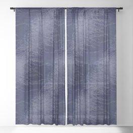 5 Wind-whipped Vines (blue II) Sheer Curtain
