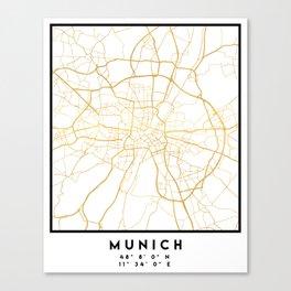 MUNICH GERMANY CITY STREET MAP ART Canvas Print