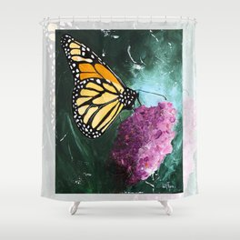 Butterfly - Soft Awakening - by LiliFlore Shower Curtain
