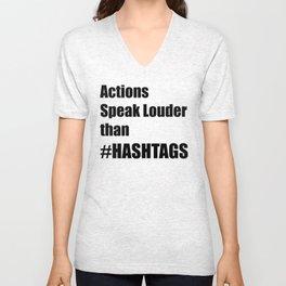Hashtags Unisex V-Neck