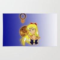 sailor venus Area & Throw Rugs featuring Sailor Venus 2.0 by Maren Lex