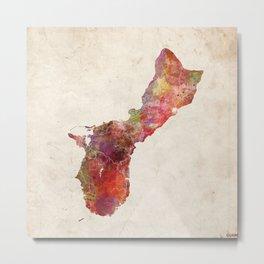 Guam map Metal Print