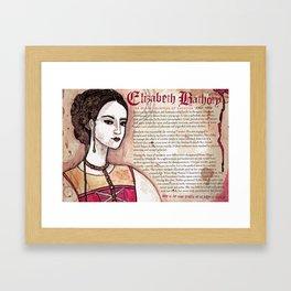 Elizabeth Bathory Framed Art Print