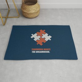 Lab No. 4 - Teamwork makes the dreamwork corporate start-up quotes Poster Rug