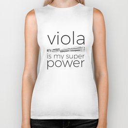 Viola is my super power (white) Biker Tank