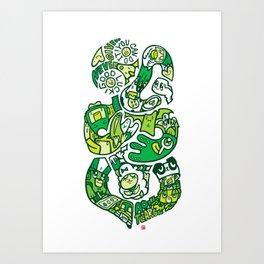 TIKI  Art Print