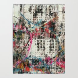 Analog Synthesizer, Abstract painting / illustration Poster