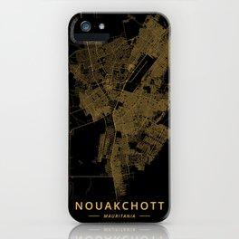 Nouakchott, Mauritania - Gold iPhone Case
