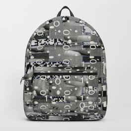 Knowing Wink (P/D3 Glitch Collage Studies) Backpack
