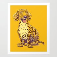 daschund Art Prints featuring Take a Woof on the Wild Side! by victor calahan