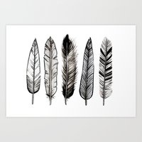 Feather ink Art Print