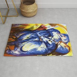 The Tower of Blue Horses by Franz Marc Rug