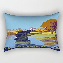 Vintage poster - Fontainebleau Rectangular Pillow